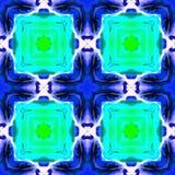 Contexte de ketmie de kaléidoscope de batik Images libres de droits