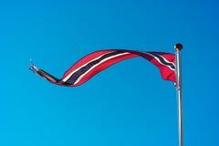 Contexte de ondulation de drapeau de la Norvège Photographie stock libre de droits
