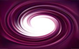 Contexte de tourbillonnement de vecteur Surface lilas liquide en spirale Image stock