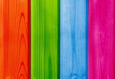 Contexte en bois coloré de planches Photographie stock libre de droits