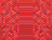 Modèle 3d abstrait facetté dans rouge-rose Photos stock