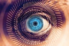 Contexte futuriste de vision d'oeil Photo stock