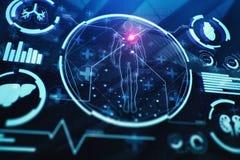 Contexte médical d'écran Photo stock