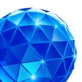 Contexte pixilated en plastique avec l'objet 3d sphérique brillant Images stock