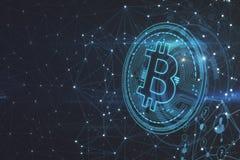 Contexte polygonal de bitcoin photo libre de droits