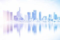 Contexte reflété de ville images stock
