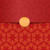 Contexte rouge avec l'ornement illustration stock