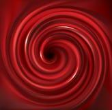Contexte rouge de tourbillonnement de vecteur Jus des fruits rouges Images libres de droits