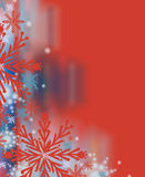 Contexte rouge renversant de Noël Photos libres de droits