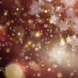 Contexte rougeoyant de vacances d'or de Noël Vecteur d'ENV 10 Images libres de droits