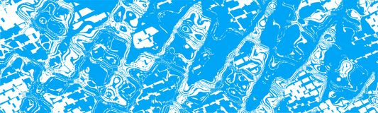 Contexto abstracto blanco azul del jefe de la bandera Fotos de archivo