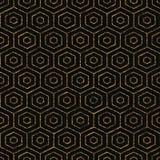 Contexto abstracto Color de oro Modelo inconsútil ilustración del vector
