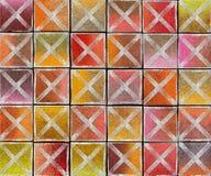 contexto abstracto cruzado de la etiqueta del aerosol de la pintada 3d Fotos de archivo