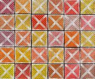 contexto abstracto de la etiqueta del aerosol de la pintada 3d con la cruz Imagenes de archivo