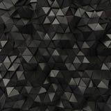 Contexto abstracto negro de los triángulos Foto de archivo libre de regalías