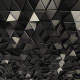 Contexto abstracto negro de los triángulos Imágenes de archivo libres de regalías