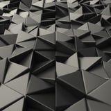 Contexto abstracto negro de los triángulos Foto de archivo