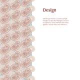 Contexto abstracto Plantilla beige del diseño de la bandera Fotografía de archivo libre de regalías