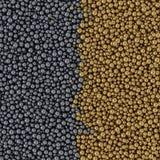 Contexto abstrato das bolas de metal 3d ilustração royalty free