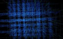 Contexto abstrato de Digitas Tecnologia, inteligência artificial e conceito da inovação ilustração 3D ilustração do vetor