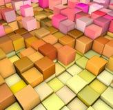 Contexto abstrato do inclinação 3d em cores felizes Fotos de Stock
