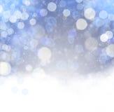 Contexto abstrato do Natal com flocos de neve Foto de Stock