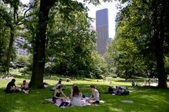 Contexto al Central Park Imágenes de archivo libres de regalías