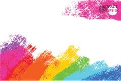 Contexto artístico, vetor com cursos da escova, fundo do olhar da pintura da escova com manchas pintados à mão coloridas ilustração do vetor