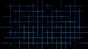 Contexto artificial azul del fondo de la rejilla de Tron stock de ilustración