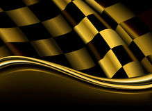 Contexto checkered de oro Imagenes de archivo