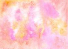 Contexto coloreado extracto Textura de la obra en rosado amarillo con referencia a Imágenes de archivo libres de regalías