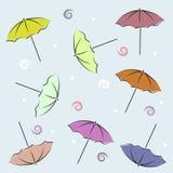 Contexto com guarda-chuvas Fotografia de Stock