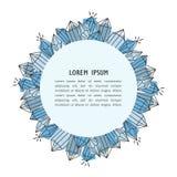 Contexto con los cristales y lugar para el texto stock de ilustración