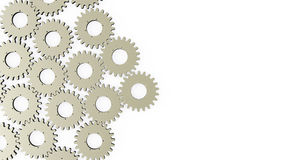Contexto con los engranajes y las ruedas dentadas Imágenes de archivo libres de regalías