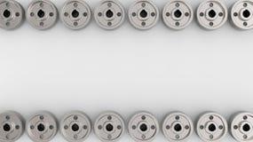 Contexto con los engranajes y las ruedas dentadas Fotos de archivo