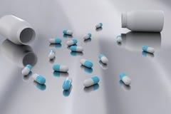 Contexto creativo de la medicina stock de ilustración