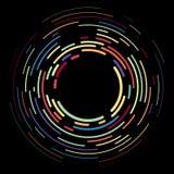 Contexto creativo moderno del vector de elementos curvados coloreados multi vivos Líneas de semitono del círculo del diseño decor libre illustration