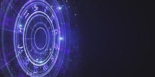 Contexto criativo da roda do zodíaco ilustração royalty free