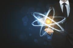 Contexto criativo do átomo fotografia de stock royalty free