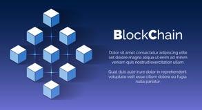Contexto Crypto del blockchain de la moneda ilustración del vector