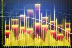 Contexto da análise, da finança e do lucro Imagens de Stock