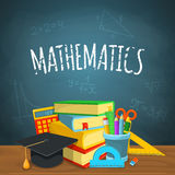 Contexto da matemática Fotos de Stock