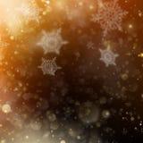 Contexto de incandescência do feriado dourado do Natal Vetor do EPS 10 Fotografia de Stock Royalty Free