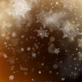 Contexto de incandescência do feriado dourado do Natal Vetor do EPS 10 Fotografia de Stock