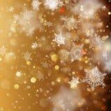 Contexto de incandescência do feriado dourado do Natal Vetor do EPS 10 Fotos de Stock Royalty Free