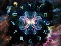 Contexto de la astrología Fotografía de archivo libre de regalías