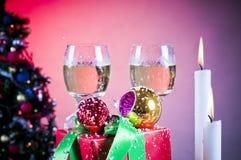Contexto de la celebración de la Navidad Imagen de archivo libre de regalías