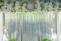 Contexto de la ceremonia de boda Fotografía de archivo libre de regalías