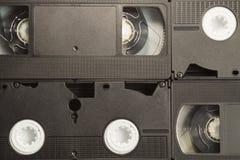 Contexto de la cinta de video fondo de los casetes VHS fotos de archivo