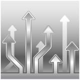 Contexto de la flecha del metal stock de ilustración